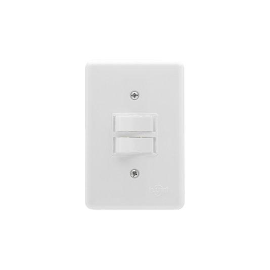 Interruptor Elétrico 2 Teclas Paralelas com Placa Branca - Ilumi