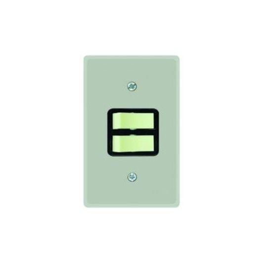 Interruptor Elétrico 2 Teclas Paralelas com Placa Cinza - Radial
