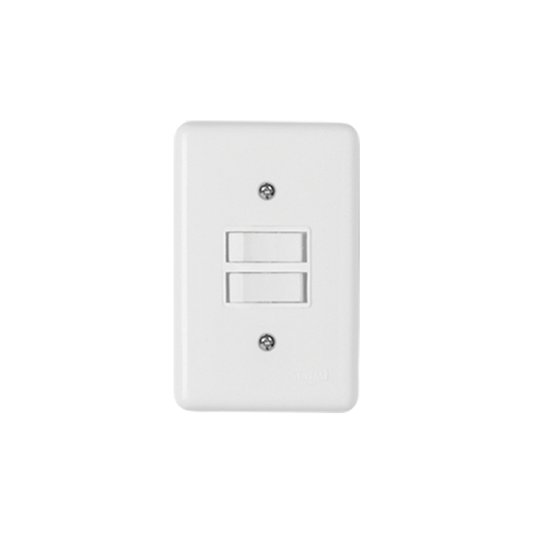 Interruptor Elétrico 2 Teclas Simples Placa Branca - Ilumi