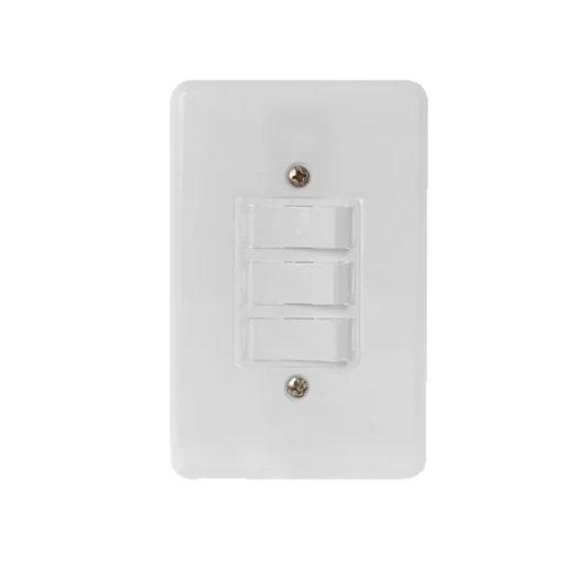 Interruptor Elétrico 3 Teclas Paralelas com Placa Branca - Radial