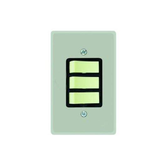 Interruptor Elétrico 3 Teclas Simples com Placa Cinza - Radial