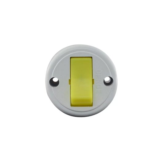 Interruptor Elétrico Externo 1 Tecla Simples Redondo Cinza - Cerge