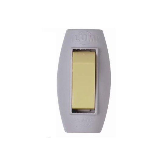 Interruptor Elétrico Tipo Pera 1 Tecla Simples Cinza - Ilumi
