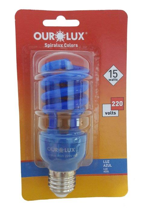 Lâmpada Eletrônica Espiral Azul 15W -  220v – Ourolux
