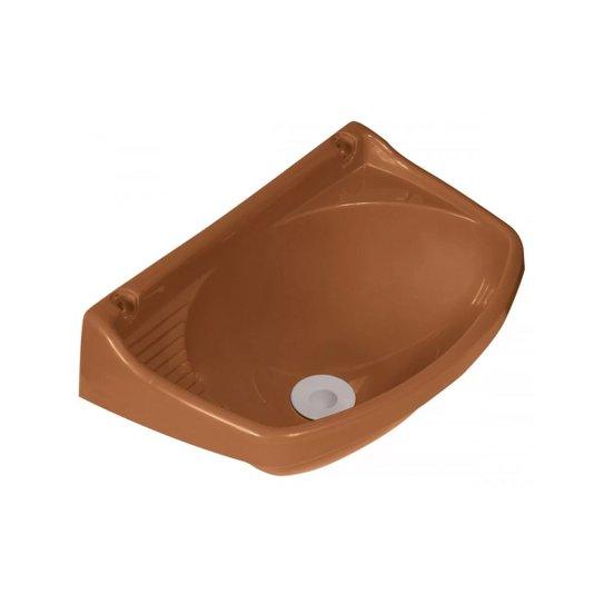 Lavatório Plástico Válvula Pequeno Caramelo - Metasul
