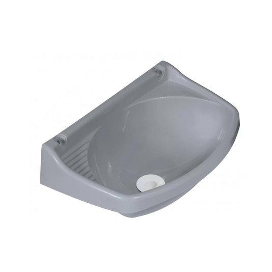Lavatório Plástico Válvula Pequeno Cinza – Metasul