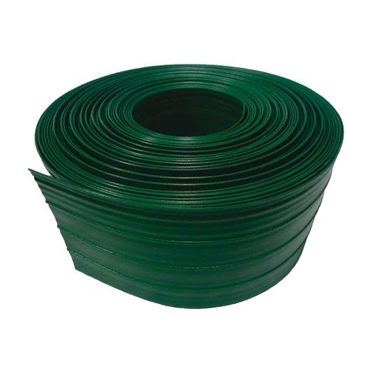 Limitador de Grama Plástico Verde sem Borda com Anti-UV Rolo 25 metros - Plasbran