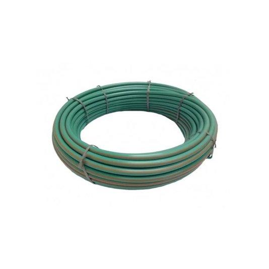 """Mangueira Plástica Verde com Anti UV 1.1/4""""x3,0mm Rolo 100 metros - Bruning"""