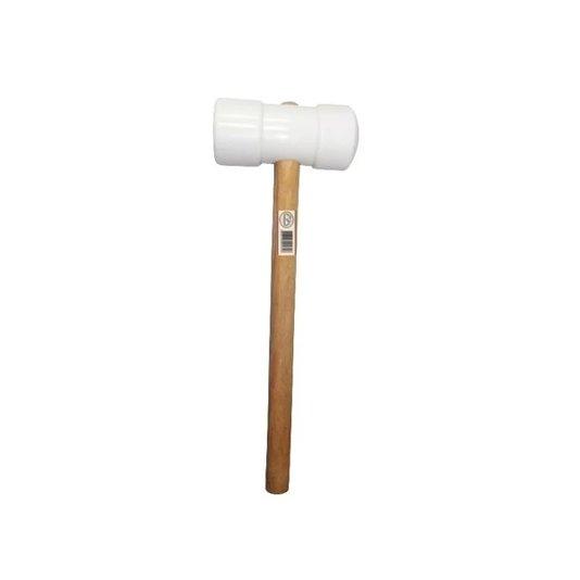 Martelo Borracha Macia Branco com Cabo 50mm - Metasul