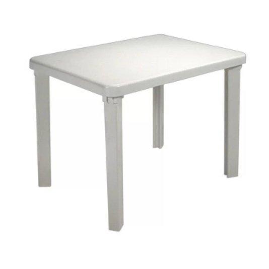 Mesa Plástica Infantil Quadrada Desmontável Branca - Eldorado
