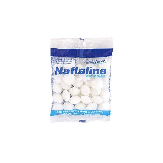 Naftalina em Bolas Branca 50g - Sanilar