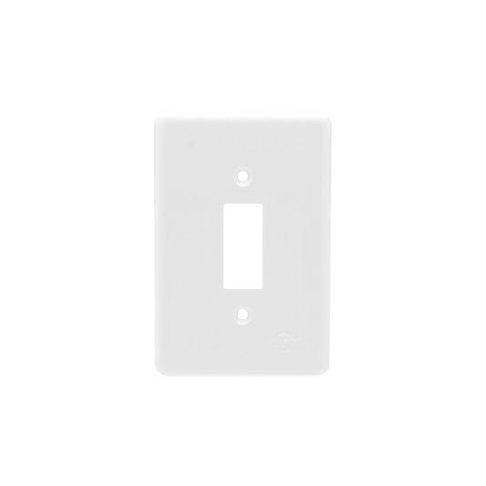 Placa para Interruptor 1 Tecla Branca - Ilumi