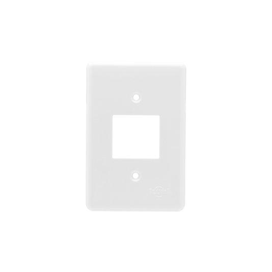 Placa para Interruptor 2 Teclas Branca - Ilumi