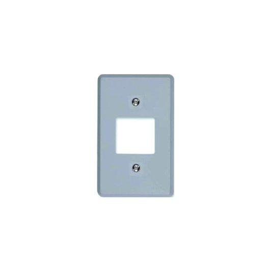 Placa para Interruptor 2 Teclas Cinza - Ilumi