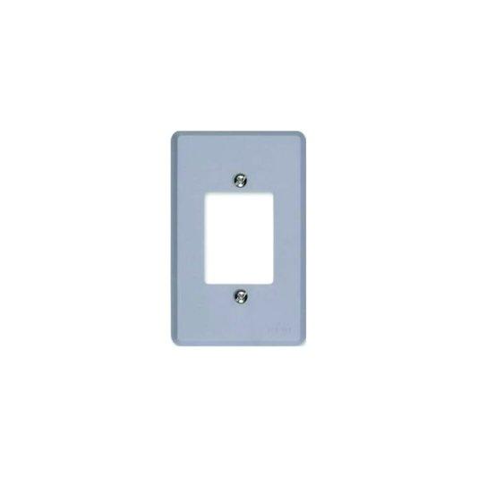 Placa para Interruptor 3 Teclas Cinza - Ilumi