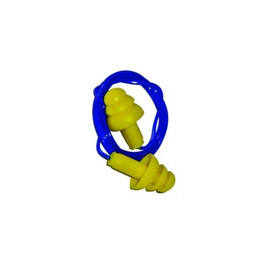 Protetor Auditivo / Auricular Tipo Plugue Amarelo 15 Decibéis - Plastcor