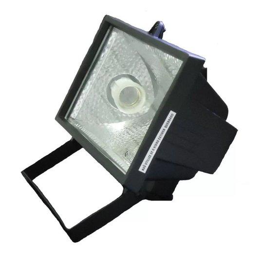 Refletor para Lâmpada Comum E-27 Economica e Incandescente Preto - Foxlux