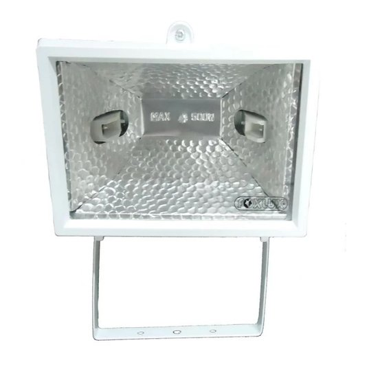 Refletor para Lâmpada Halógena 300/500W Branco - Foxlux