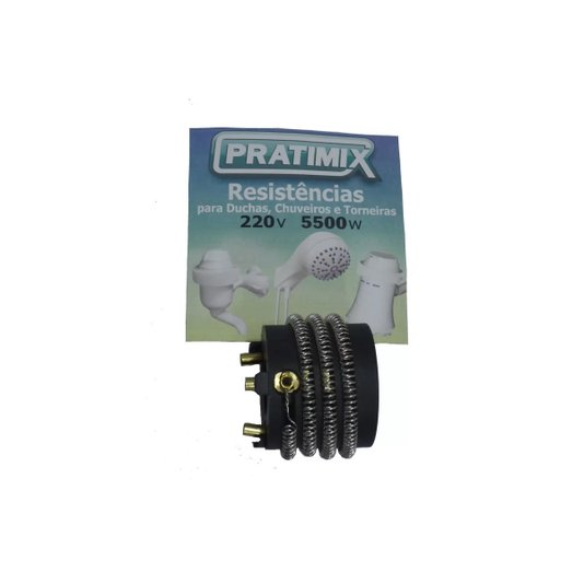 Resistência Elétrica 5.400W para Nova- Ducha - Sintex 3T 220V - Prakasa