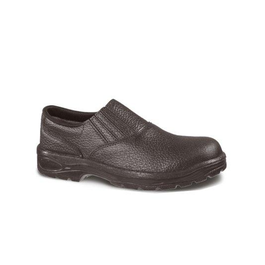 Sapato Elástico Lateral Raspa Preto N° 43 - São Crispim