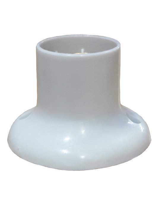 Soquete para Lâmpada de Teto Fixo Branco - Ilumi