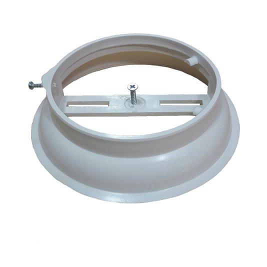 Suporte Luminária Plafon Plástico Branco sem Soquete - Luconi