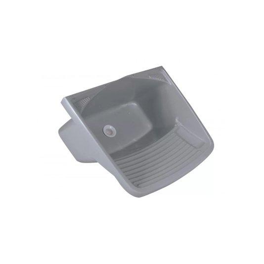 Tanque Plástico com Válvula 24 Litros Cinza - Metasul