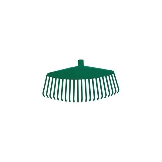 Vassoura Plástica com Cabo 21 Dentes 42 cm Verde - Metasul