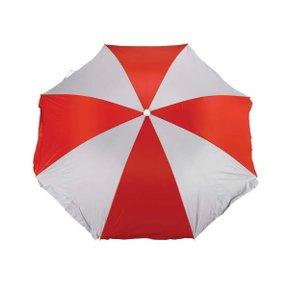 Guarda Sol Praia 1,80m Vermelho/Branco Fashion com Forro - Mor