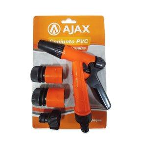 "Kit de Esguicho Pistola Plástica 4 Peças 1/2"" - Ajax"