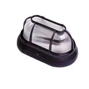 Luminária de Plástico Arandela Tipo Tartaruga Bocal E-27 Preta - Plaslumi