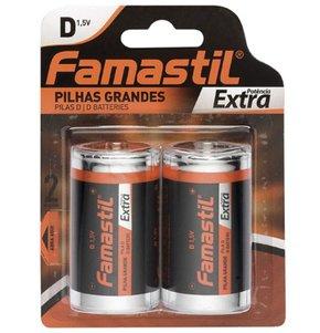 Pilha Simples D-Grande Encartelada com 2 Unidades - Famastil