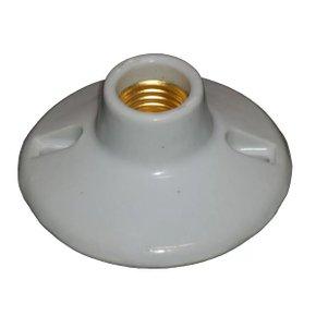 Plafon Redondo para Lâmpada Inteiro Porcelana - Foxlux