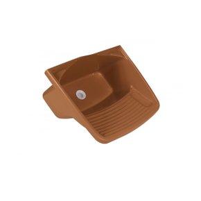 Tanque Plástico Válvula 24 Litros Caramelo - Metasul