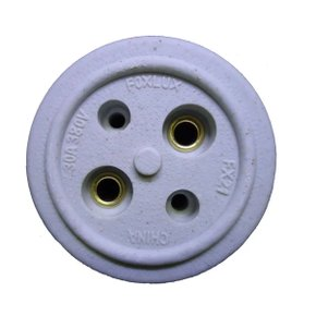 Tomada Elétrica Bipolar 30A Porcelana FX-21 - Foxlux